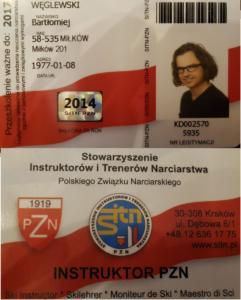Bartłomiej Węglewski Instruktor Narciarstwa